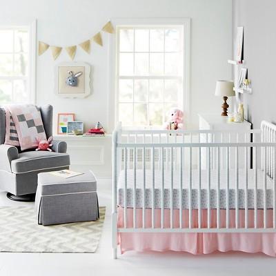 Pink Gray Nursery Room
