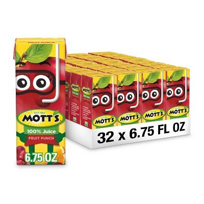 Mott's 100% Juice Fruit Punch - 8pk/6.75 fl oz Boxes