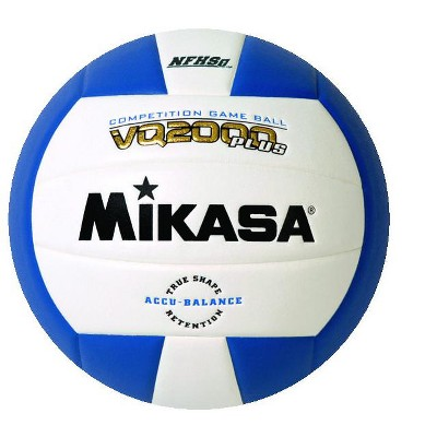 Mikasa VQ 2000 NFHS Volleyball, Royal Blue/White