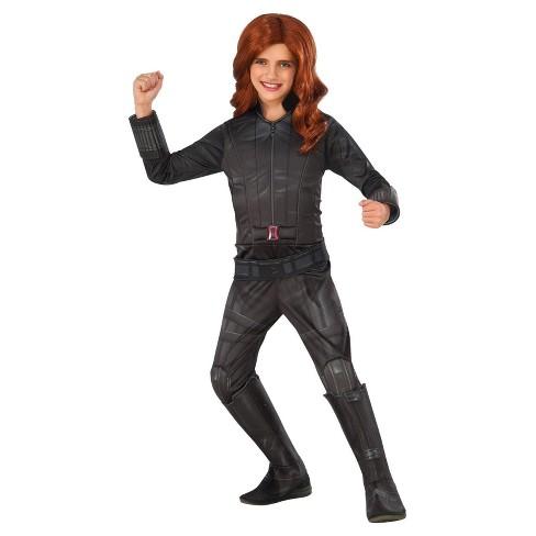 Marvels Captain America Civil War Deluxe Girls Black Widow Costume
