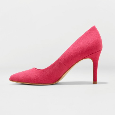 e8635b1a3e2 Women's Gemma Wide Width Faux Leather Pointed Toe Heeled Pumps - A ...