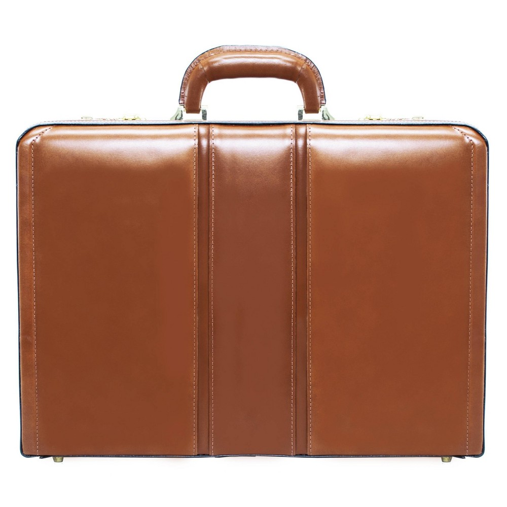 """Image of """"McKlein Coughlin Leather 4.5"""""""" Expandable Attache Briefcase - Brown"""""""