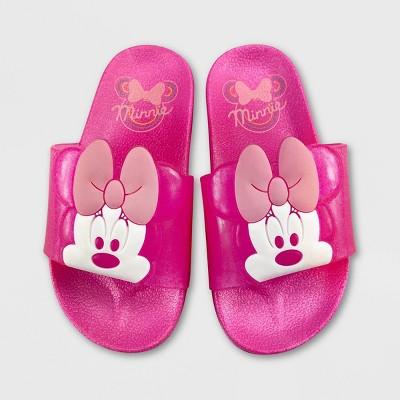 Girls' Disney Minnie Mouse Slide Sandals - Pink - Disney Store