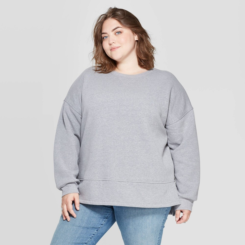 Women's Plus Size Fleece Tunic Pullover Sweatshirt - Universal Thread Heather Gray 4X was $24.99 now $17.49 (30.0% off)