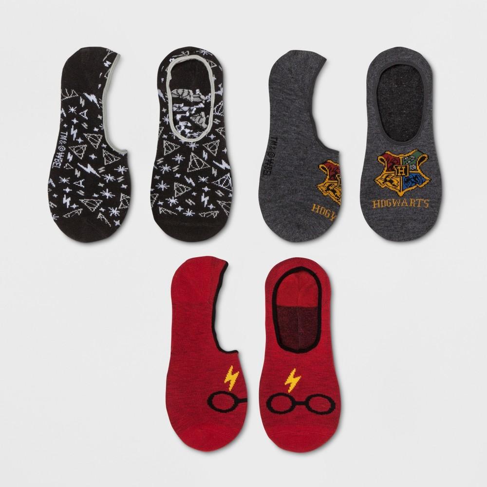 Women's Harry Potter Hogwarts 3pk Liner Socks - 4-10, Black