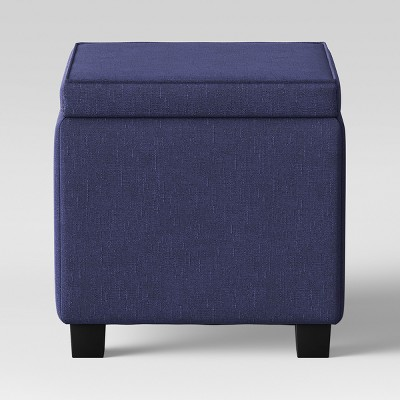 Storage Ottoman With Tray Table Navy - Room Essentials™