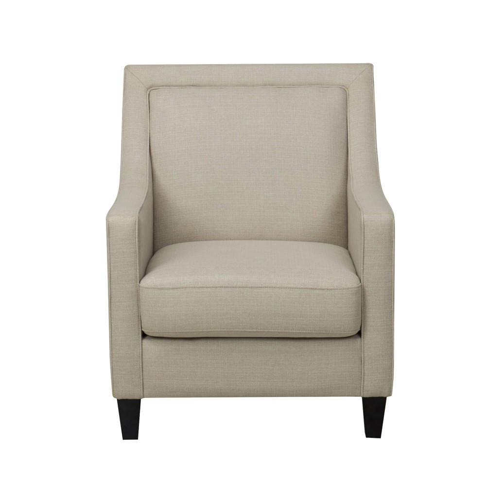 Harris Upholstered Chair with Piping Tan - John Boyd Designs