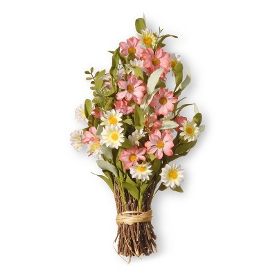 """Artificial Spring Floral Bouquet Pink 16"""" - National Tree Company"""