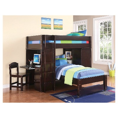 Kids Twin Bed Espresso Target Lars Kids Loft Bed With Twin Bed