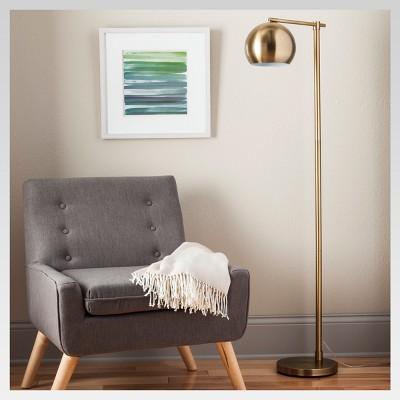 Edris Metal Globe Floor Lamp Brass Lamp Only - Project 62™