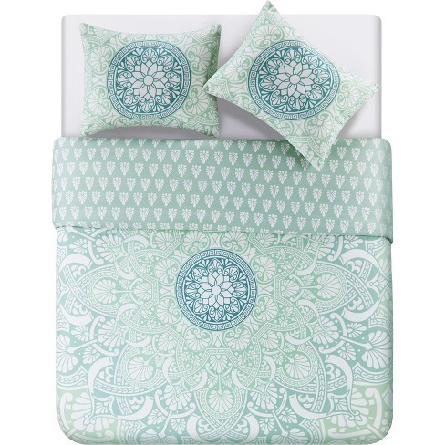 3pc Full/Queen Taconic Duvet Cover Set Blue/White - VCNY Home - image 1 of 4