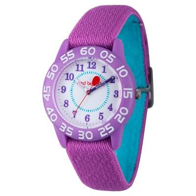 Girls' Red Balloon Purple Plastic Time Teacher Watch - Purple
