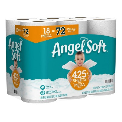 Angel Soft Toilet Paper - 18 Mega Rolls
