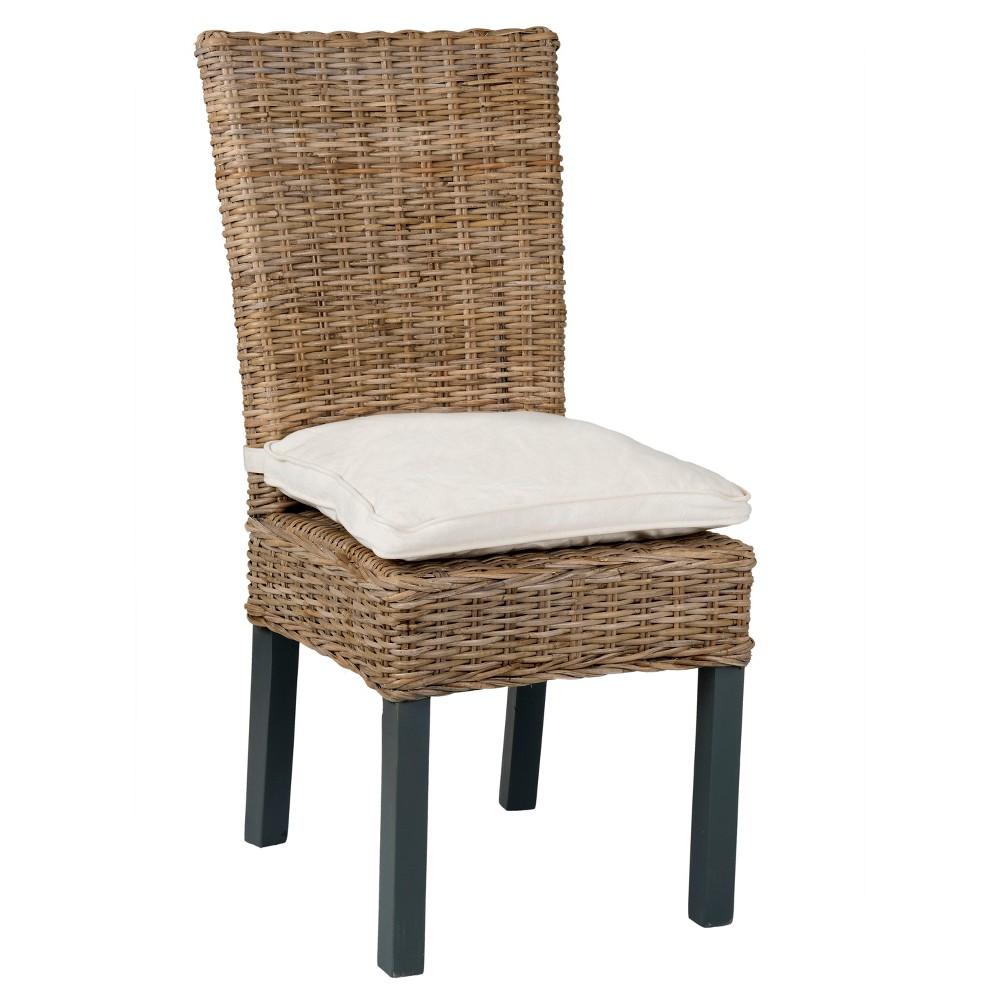 Duke Abaca Dining Chair - Grey - East At Main, Gray