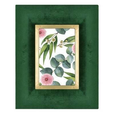 4 X6  Velvet Wrapped Tabletop Frame Green - Opalhouse™