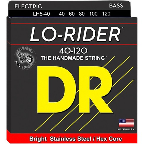 DR Strings Lo Rider LH5-40 Light Stainless Steel 5-String Bass Strings - image 1 of 1