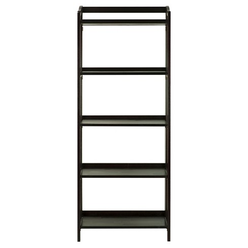 stratford 6025 5 shelf folding bookcase - Folding Bookshelves