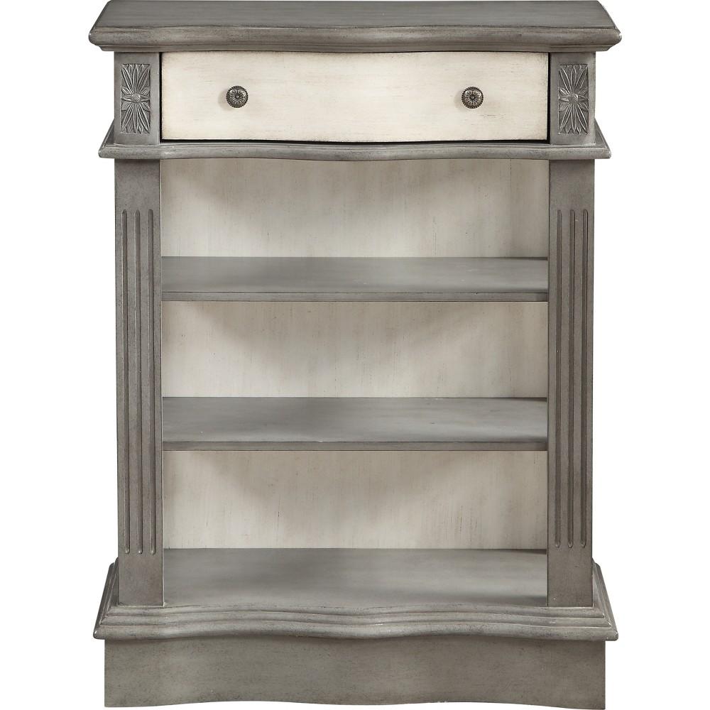 Danby 1 Drawer Bookcase Gray/Cream (Gray/Ivory) - Treasure Trove