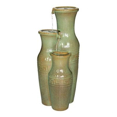 Ceramic Grecian Jars Garden Fountain - Acorn Hollow