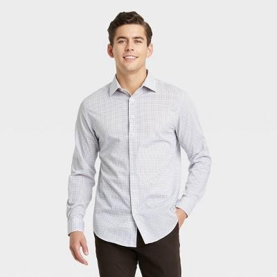 Men's Standard Fit Performance Dress Long Sleeve Button-Down Shirt - Goodfellow & Co™