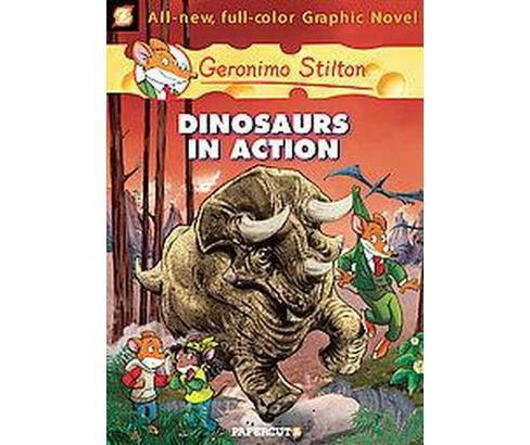 Geronimo Stilton 7 : Dinosaurs in Action (Hardcover) - image 1 of 1