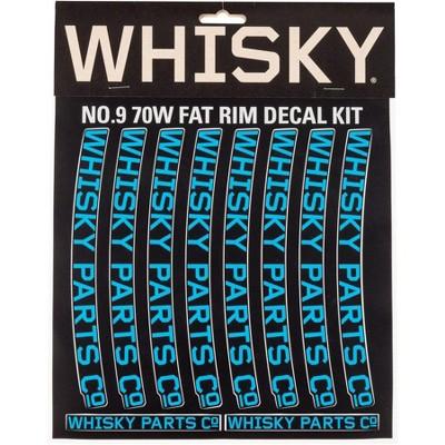 Whisky Parts Co. 70w Rim Decal Kit Cyan