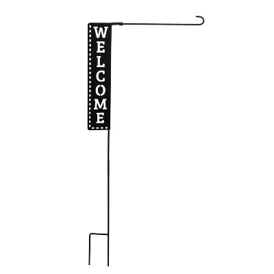 Evergreen Flag Welcome Laser Cut Garden Flag Stand Durable Outdoor Flag Hardware For Homes and Gardens