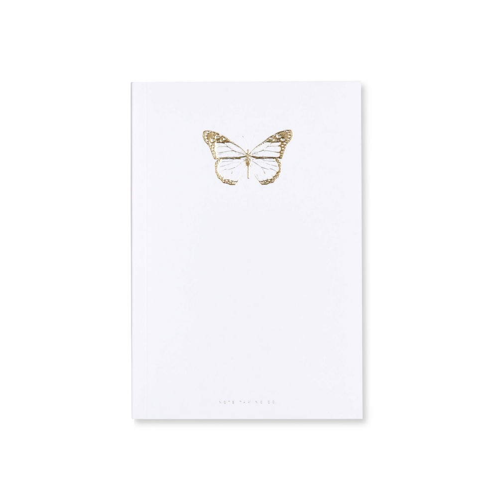 Image of Special Lined Butterfly Composition Notebook White - West Emory