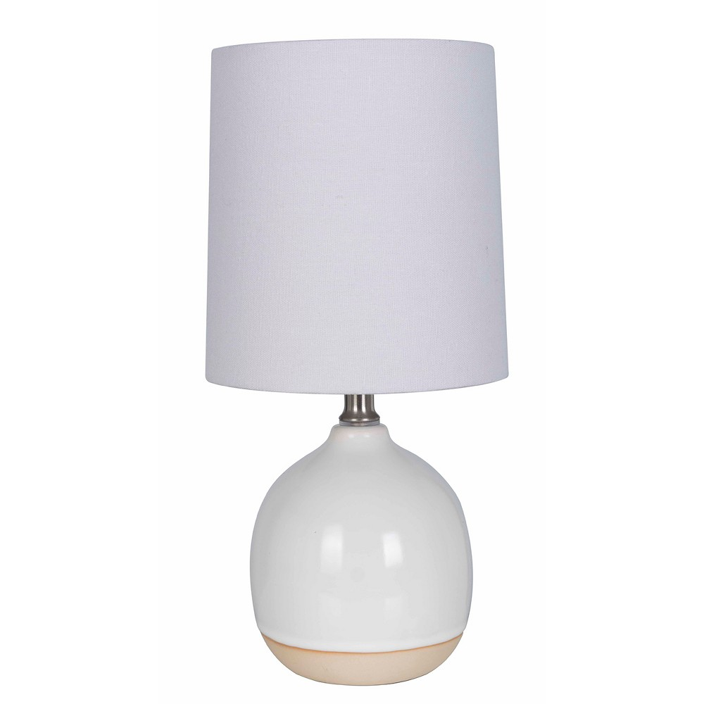 Round Ceramic Table Lamp White (Includes Energy Efficient Light Bulb) - Threshold