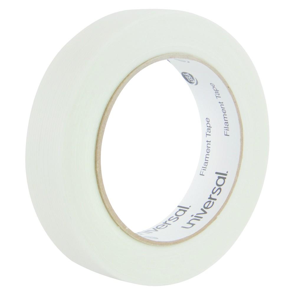 Universal 165# Medium Grade Filament Tape, 24mm x 54.8m, 3 Core, Clear