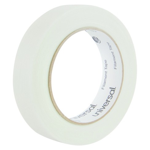 "Universal® 165# Medium Grade Filament Tape, 24mm x 54.8m, 3"" Core, Clear - image 1 of 4"