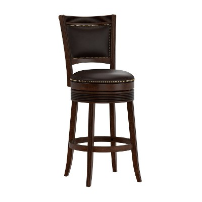 Lockefield Swivel Height Barstool Brown Cherry - Hillsdale Furniture