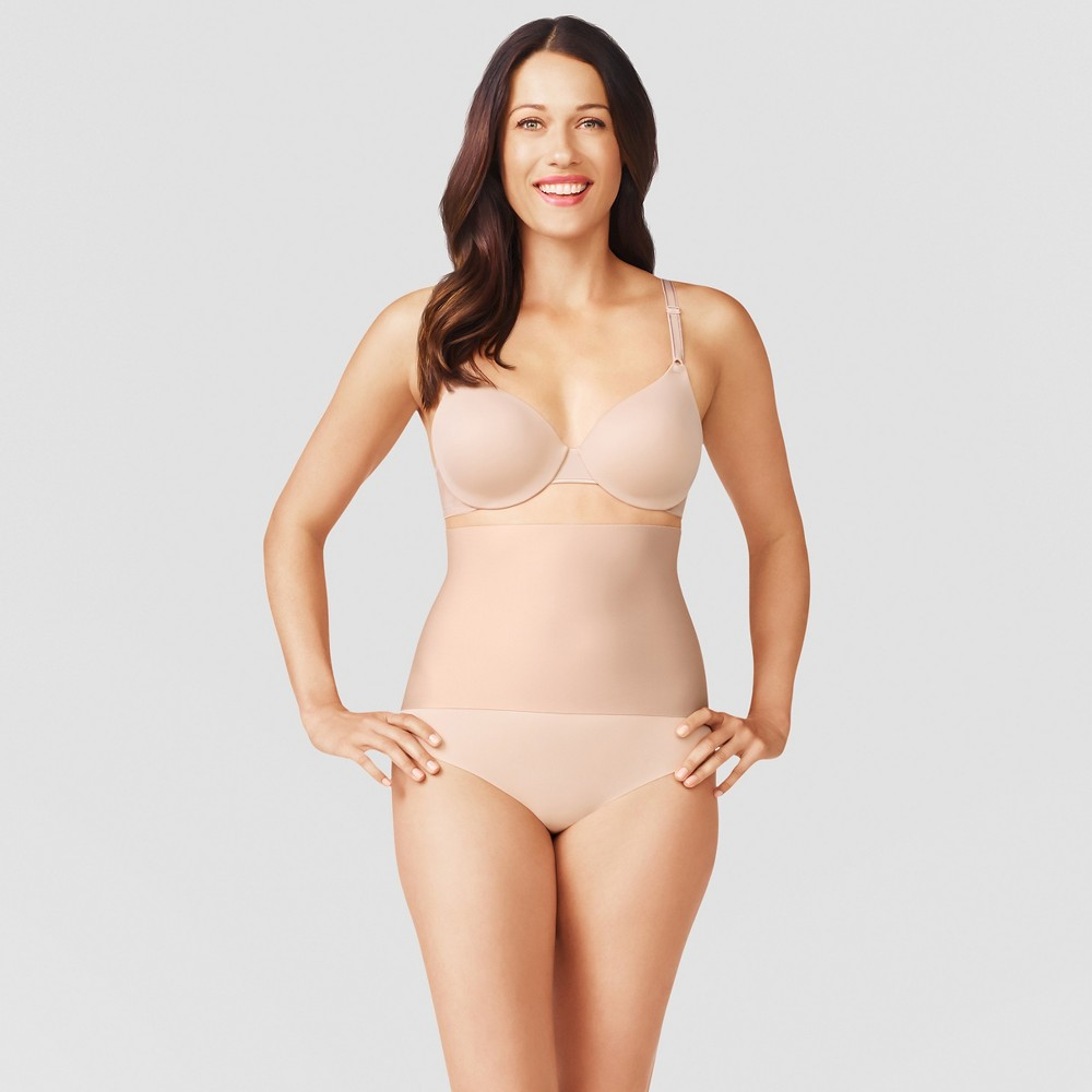 Simply Perfect by Warner's Women's High Waist Cinching Brief - Beige Nude M