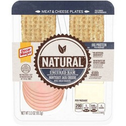 Oscar Mayer Natural Plate with Ham, Monterey Jack Cheese and Crackers - 3.3oz