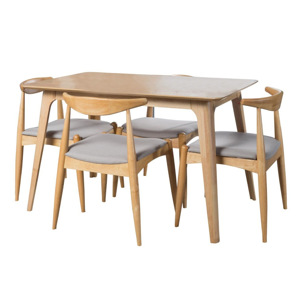 Francie 47 5pc Rectangular Dining Set Oak Brown/Gray - Christopher Knight Home