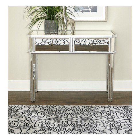 Carrick Console with Drawers Mirrored - Powell Company - image 1 of 3