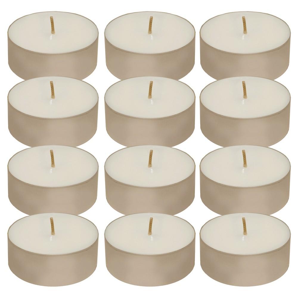 12ct Tea Light Candle White - Lumabase