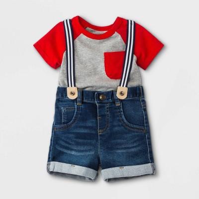 Baby Boys' Denim Top & Bottom Set - Cat & Jack™ Gray