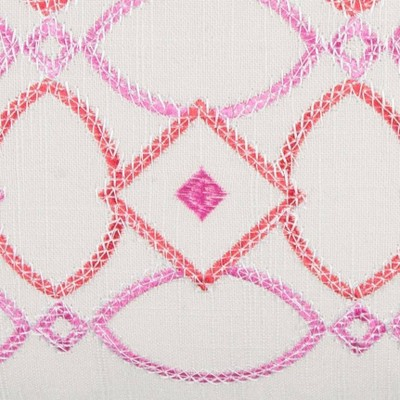 """Pink Cotton Throw Pillow (14""""x26"""") - Rizzy Home : Target"""