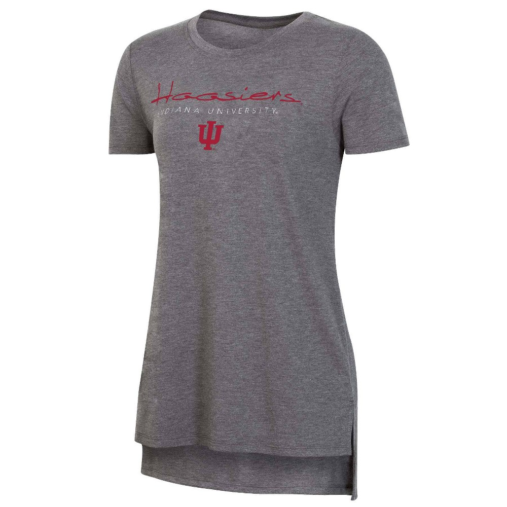 Ncaa Indiana Hoosiers Women 39 S Short Sleeve Gray Drape T Shirt Xl
