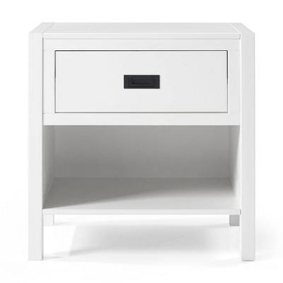 Single Drawer Classic Bedside Table Nightstand - Saracina Home