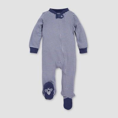 Burt's Bees Baby® Boys' Classic Stripe Organic Cotton Sleep N' Play - Indigo 3-6M