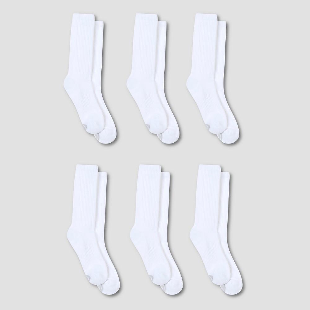 Men's Athletic Socks 6pk - C9 Champion White 6-12