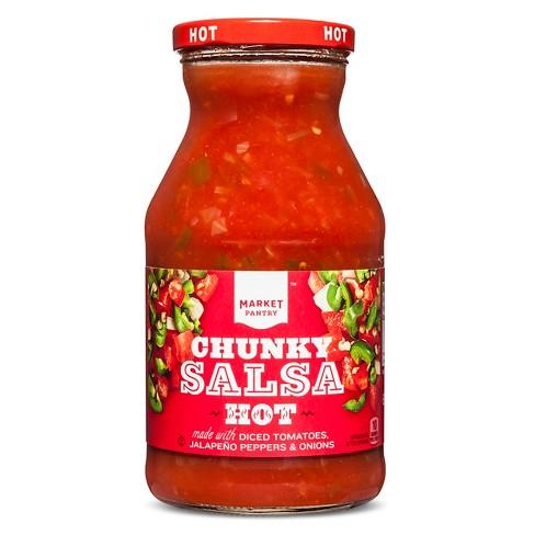 Hot Chunky Salsa 24oz - Market Pantry™ - image 1 of 1