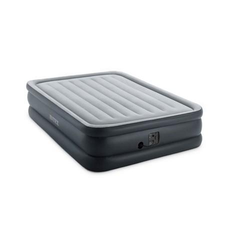 Intex Dura Beam Standard Series Essential Rest Gray Air Mattress w/ Pump, Queen - image 1 of 4