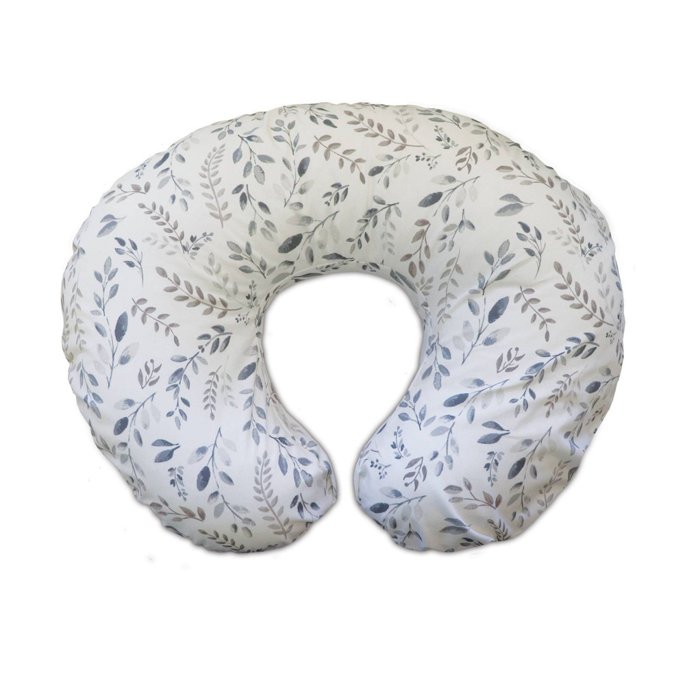 Image of Boppy Nursing Pillow and Positioner - Gray Taupe Watercolor Leaves