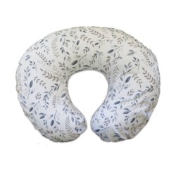 Boppy Nursing Pillow and Positioner - Gray Taupe Watercolor Leaves