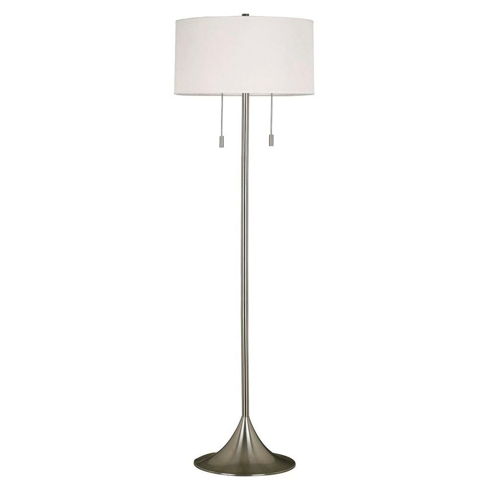 Kenroy Home Stowe Floor Lamp - Brushed Steel (Lamp Only), Silver