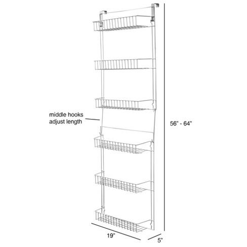 Peachy Trademark Global Overdoor Storage Basket Rack 5 Interior Design Ideas Gresisoteloinfo