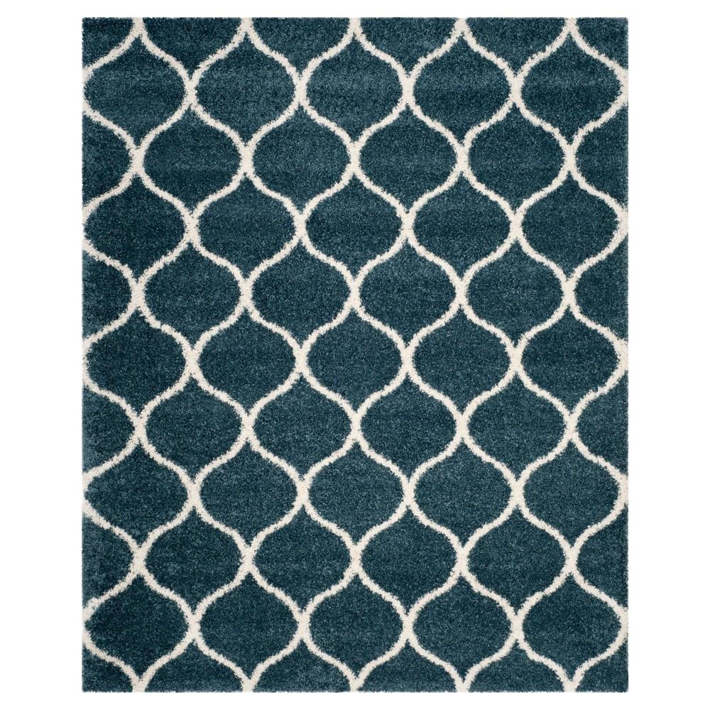 8 39 X10 39 Kamila Area Rug Slate Blue Ivory Safavieh